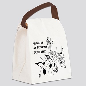 Music Is What Feelings Canvas Lunch Bag
