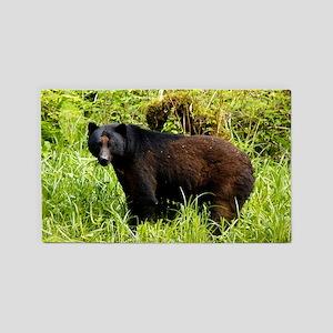Black bear 3'x5' Area Rug