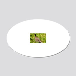 Spruce grouse 20x12 Oval Wall Decal