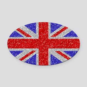 British Glam Oval Car Magnet