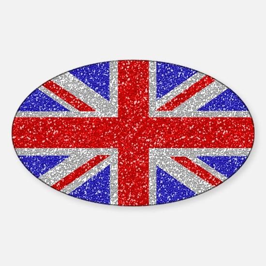 British Glam Sticker (Oval)