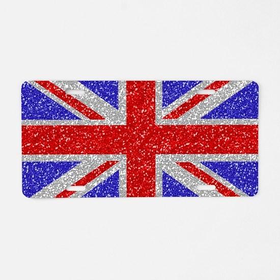 British Glam Aluminum License Plate