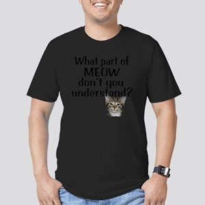 MEOW Men's Fitted T-Shirt (dark)