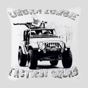 Urban Zombie Woven Throw Pillow