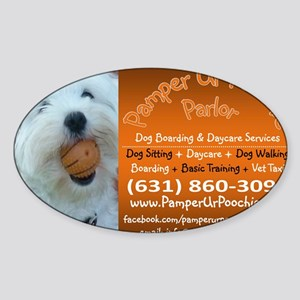 PUPP Large Rectangle Sticker (Oval)