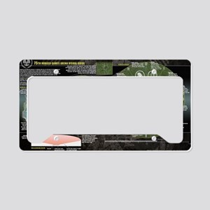 Catching Fire Arena Clock License Plate Holder