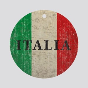Vintage Italia Round Ornament