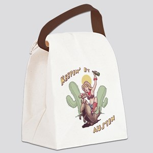 austin-armadillo-T Canvas Lunch Bag