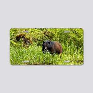 Black Bear 23 x 35 Aluminum License Plate
