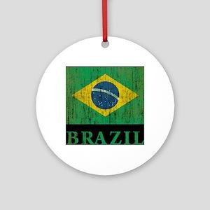 Vintage Brazil Round Ornament