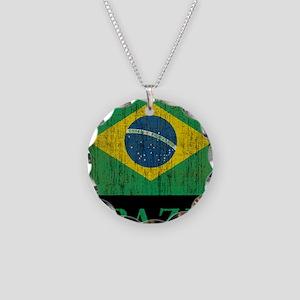 Vintage Brazil Necklace Circle Charm