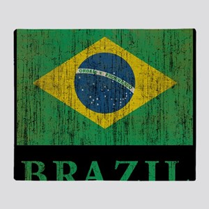 Vintage Brazil Throw Blanket
