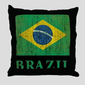 Vintage Brazil Throw Pillow
