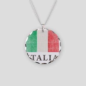 Vintage Italia Necklace Circle Charm