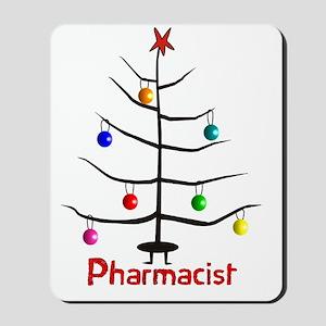 pharmacist Christmas tree stick Mousepad