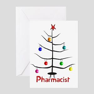 pharmacist Christmas tree stick Greeting Card