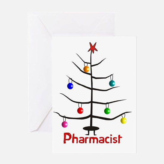 pharmacist Christmas tree stick Greeting Card