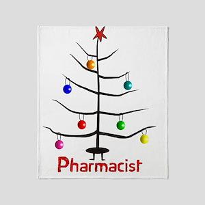 pharmacist Christmas tree stick Throw Blanket