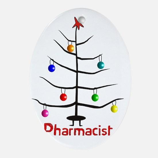 pharmacist Christmas tree stick Oval Ornament