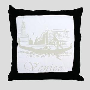 Retro Venice Throw Pillow