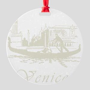 Retro Venice Round Ornament