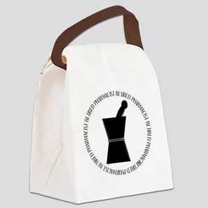 retired pharmacist pestle and mor Canvas Lunch Bag
