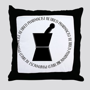 retired pharmacist pestle and mortar Throw Pillow