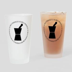 retired pharmacist pestle and morta Drinking Glass