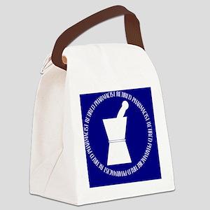 retired pharmacist blue DARKS BLA Canvas Lunch Bag