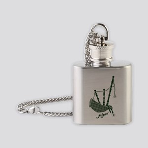 PIPER (bagpipes design!) Flask Necklace