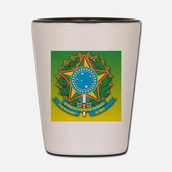 Brazil Coat Of Arms Shot Glass