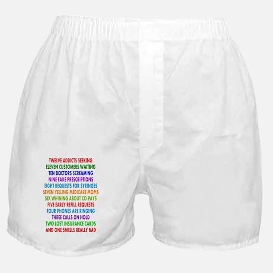PHARMACIST 12 DAYS OF CHRISTMAS 2 Boxer Shorts