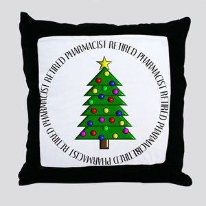 retired pharmacist ornament Throw Pillow