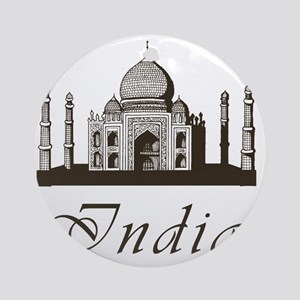 Retro Taj Mahal Round Ornament