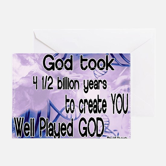 Well Played God Greeting Card