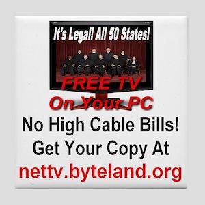 Its Legal All 50 States Free TV On Yo Tile Coaster