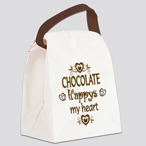 Chocolate Happy Canvas Lunch Bag