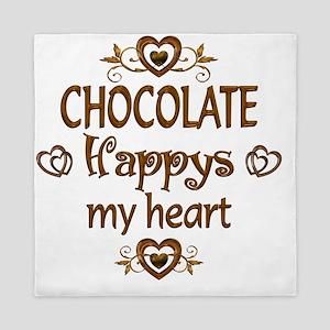 Chocolate Happy Queen Duvet
