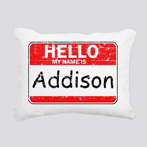 Hello my name is Addison Rectangular Canvas Pillow