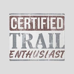 Certified Trail Enthusiast dark Throw Blanket
