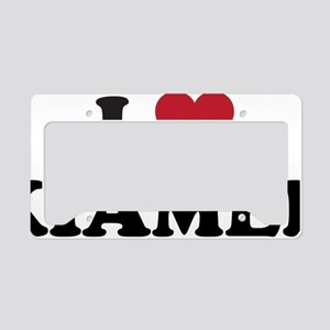I Love Xiamen License Plate Holder
