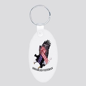 Disabled Veteran Eagle And Ribbon Keychains