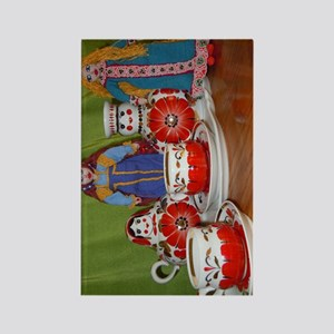 Russian Doll Tea Time Rectangle Magnet