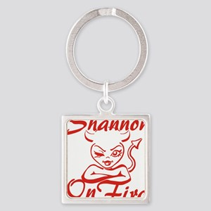 Shannon On Fire Square Keychain