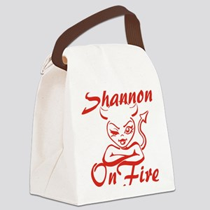 Shannon On Fire Canvas Lunch Bag