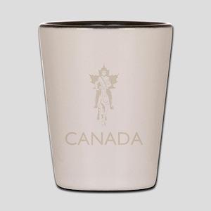 Retro Canada Shot Glass
