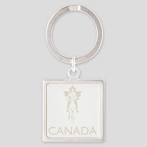 Retro Canada Square Keychain