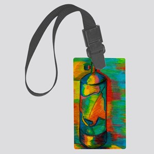 scuba tank Large Luggage Tag