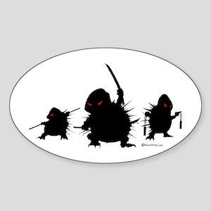 Ninja Hedgehogs Sticker (Oval)
