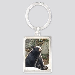 Black Bear Sitting Portrait Keychain